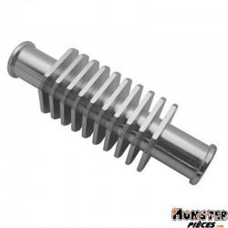 RADIATEUR ECHANGEUR ALU CNC ARGENT FORME CARREE (57x29mm, FIXATION DURITE 17mm)