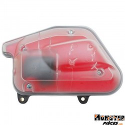 FILTRE A AIR SCOOT ADAPTABLE MBK 50 BOOSTER 2004>, STUNT 2004>-YAMAHA 50 BWS 2004>, SLIDER 2004> TRANSPARENT MOUSSE ROUGE  -REPL