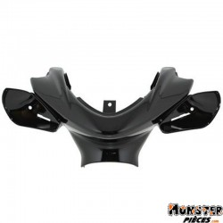 CARENAGE-COUVRE GUIDON SCOOT ADAPTABLE MBK 50 NITRO 1997>2012-YAMAHA 50 AEROX 1997>2012 NOIR BRILLANT