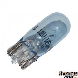 AMPOULE-LAMPE 12V  5W NORME W5W CULOT W2,1x9,5D WEDGE BLEU (COMPTEUR) (VENDU A L'UNITE)  -FLOSSER-