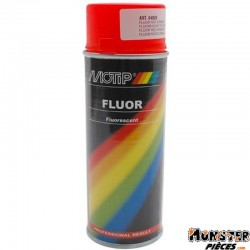 BOMBE DE PEINTURE MOTIP PRO FLUO ROUGE-ORANGE spray 400ml (04020)