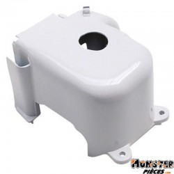 COIFFE-CACHE CYLINDRE SCOOT ADAPTABLE MBK 50 BOOSTER, STUNT-YAMAHA 50 BWS, SLIDER BLANC  -SELECTION P2R-