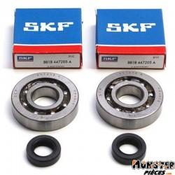 ROULEMENT D'EMBIELLAGE + JOINT CYCLO P2R ADAPTABLE PEUGEOT 50 FOX (KIT SC04A47CS SKF POLYAMIDE)