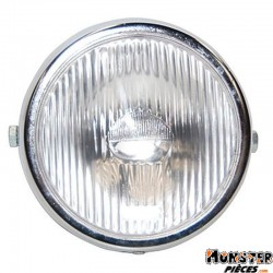 PHARE-PROJECTEUR CYCLO ADAPTABLE PEUGEOT 103-MBK 51 ROND CHROME  -SELECTION P2R-