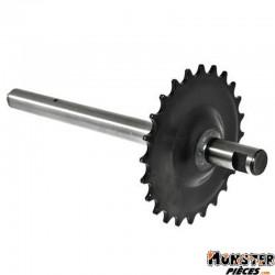 AXE DE PEDALIER CYCLO ADAPTABLE PEUGEOT 103 SP-MVL (24 DTS)