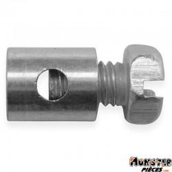 SERRE CABLE DE GAZ CYCLO � 6,0 mm, L 7 mm POUR PEUGEOT (BLISTER DE 25) (ALGI 02923000-025)