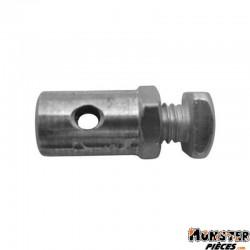 SERRE CABLE DE GAZ CYCLO � 6,0 mm, L 11 mm  POUR MBK (BLISTER DE 25) (ALGI 00423000-025)