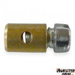 SERRE CABLE DE GAZ CYCLO � 4,0 mm, � CABLE 1,6 mm, L 8 mm  POUR PIAGGIO 50 CIAO PX (VENDU A L'UNITE)
