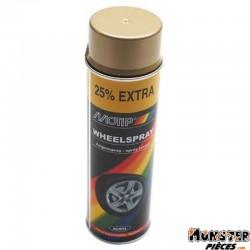 BOMBE DE PEINTURE MOTIP PRO JANTES OR spray 500ml (04008)