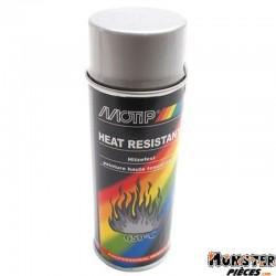 BOMBE DE PEINTURE MOTIP PRO HAUTE TEMPERATURE ARGENT spray 400ml (04032)