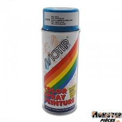 BOMBE DE PEINTURE MOTIP GLYCERO BRILLANT BLEU LUMINEUX spray 400ml (01678)