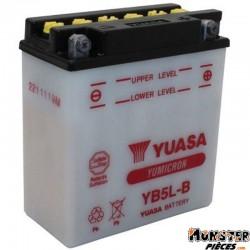 BATTERIE 12V  5 Ah YB5L-B YUASA YUMICRON AVEC ENTRETIEN (Lg120xL60xH130)
