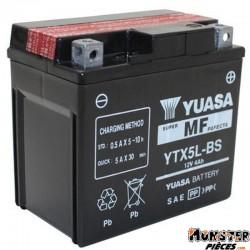 BATTERIE 12V  4 Ah YTX5L-BS YUASA MF SANS ENTRETIEN LIVREE AVEC PACK ACIDE (Lg114xL71xH106)