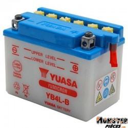 BATTERIE 12V  4 Ah YB4L-B YUASA YUMICRON AVEC ENTRETIEN (Lg120xL70xH92)