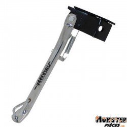 BEQUILLE SCOOT LATERALE ADAPTABLE MBK 50 NITRO-YAMAHA 50 AEROX CHROME  -BUZZETTI-