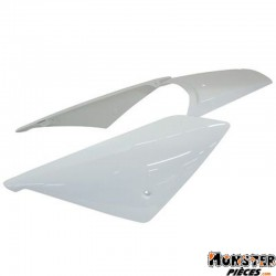 COQUE AR SCOOT BCD POUR PEUGEOT 50 LUDIX ONE, SNAKE, TREND, BLASTER BLANC (3 PIECES)
