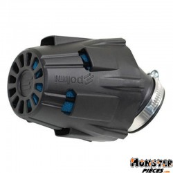 FILTRE A AIR POLINI BLUE AIR BOX PHBG RACING FIXATION COUDEE 30ᄚ DIAM 37 (203.0091)