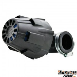 FILTRE A AIR POLINI BLUE AIR BOX PHBG NOIR FIXATION COUDEE 90ᄚ DIAM 32 (203.0093)