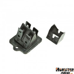 CLAPET SCOOT MALOSSI POUR PIAGGIO 50 ZIP, TYPHOON, NRG-GILERA 50 STALKER, RUNNER, DNA, ICE (VL11 CARBONE SUPPORT ALU)
