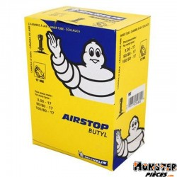CHAMBRE A AIR 17''  3.00-17 , 90-80-17 , 100-80-17 MICHELIN 17ME VALVE TR4