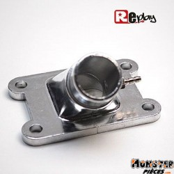 PIPE ADMISSION 50 A BOITE REPLAY ALU POUR MINARELLI 50 AM6-MBK 50 X-POWER-YAMAHA 50 TZR-PEUGEOT 50 XPS, XR6-RIEJU 50 RS1, SMX (D