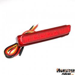 FEU AR UNIVERSEL REPLAY A LEDS BARETTE ROUGE AVEC STOP (6 LEDS ROUGES) (L78mm, H25mm)  -HOMOLOGUE CE-