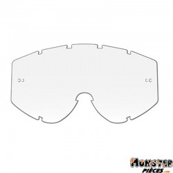ECRAN LUNETTE-MASQUE CROSS PROGRIP 3210 TRANSPARENT SIMPLE- ANTI-BUEE-ANTI-RAYURES-ANTI-U.V.