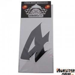 AUTOCOLLANT NUMERO 4 NOIR (H  9cm) (MERYT)
