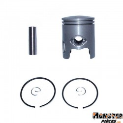 PISTON SCOOT ADAPTABLE MBK 50 BOOSTER 1990>1998, STUNT-YAMAHA 50 BWS 1990>1998, SLIDER (CALOTTE BOMBEE - DIAM 40 - 2 SEGMENTS 1,