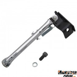 BEQUILLE SCOOT LATERALE ADAPTABLE MBK 50 NITRO-YAMAHA 50 AEROX CHROME  -REPLAY-