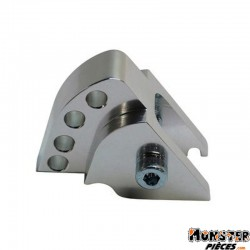 REHAUSSE AMORTISSEUR SCOOT REPLAY POUR MBK 50 BOOSTER 1999>2003-YAMAHA 50 BWS 1999>2003 ARGENT (4 POSITIONS)
