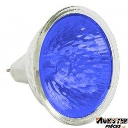 AMPOULE-LAMPE 12V 20W DICHROIQUE MR-16 DIAM 50 BLEU (PROJECTEUR MR16) (VENDU A L'UNITE) -SELECTION P2R- **