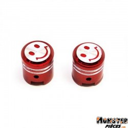 BOUCHON DE VALVE REPLAY PISTON ROUGE (PAIRE)