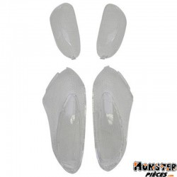 CABOCHON CLIGNOTANT SCOOT ADAPTABLE GILERA 50 STALKER AV+AR 2001> TRANSPARENT (x4)  -SELECTION P2R-