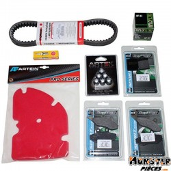 KIT ENTRETIEN MAXISCOOTER ADAPTABLE PIAGGIO 125 MP3 2006>  -P2R-  (BOUGIE NGK+MOUSSE FILTRE A AIR ARTEIN+COURROIE MITSUBOSHI+GAL