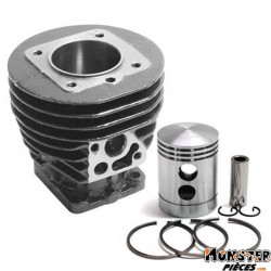 CYLINDRE CYCLO ADAPTABLE SOLEX (COMPLET AVEC PISTON+JOINTS)  -SELECTION P2R-
