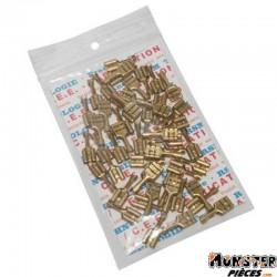 COSSE ELECTRIQUE FEMELLE 6.3x1 RS 7900 LAITON (VENDU AU SACHET DE 50 PIECES)