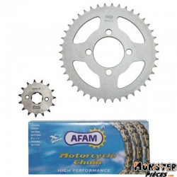 KIT CHAINE ADAPTABLE HONDA 125 CBR R 2004>2010  428  15x42  (DEMULTIPLICATION ORIGINE)  -AFAM-