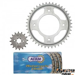 KIT CHAINE ADAPTABLE HONDA 125 CBF 2009>  428  16x42  (DEMULTIPLICATION ORIGINE)  -AFAM-