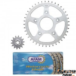 KIT CHAINE ADAPTABLE CAGIVA 125 MITO 1992>1999  520  14x41  (DEMULTIPLICATION ORIGINE)  -AFAM-