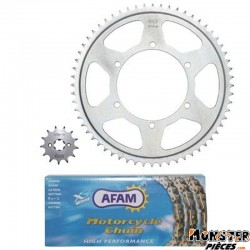 KIT CHAINE ADAPTABLE APRILIA 125 RS4 2012>  428  13x60  (DEMULTIPLICATION ORIGINE)  -AFAM-