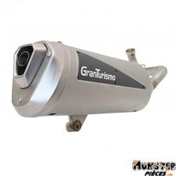 POT MAXISCOOTER LEOVINCE GRANTURISMO TITANE POUR PIAGGIO 250 VESPA GTS 2005>2011 (REF 3204) (HOMOLOGUE CE)