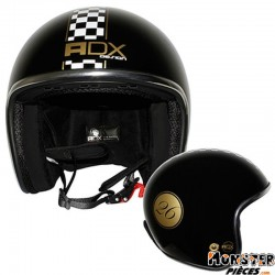 CASQUE JET ADX LEGEND DAMIER NOIR BRILLANT   S