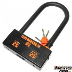 ANTIVOL U MAGGI ACTIVE SQUARE AVEC ALARME SONORE 100 db- 200x95mm (DIAM 20mm) (CLASSE SRA)