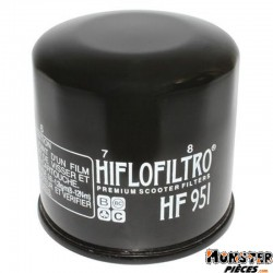 FILTRE A HUILE MAXISCOOTER HIFLOFILTRO POUR HONDA 300 SH 2007>2010, 400 SILVER WING 2001>,400 SW-T, 250 FORZA, 600 SILVER WING 2