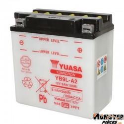BATTERIE 12V  9 Ah YB9L-A2 YUASA YUMICRON AVEC ENTRETIEN (Lg135xL75xH139)