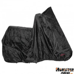 HOUSSE DE PROTECTION SCOOT-MOTO NOIR 100% ETANCHE L188x102x115 (PVC+POLYESTER-OEILLETS ANTIVOL)