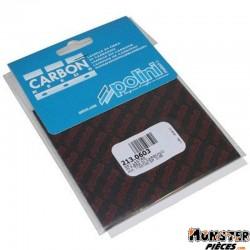 LAMELLE DE CLAPET POLINI CARBONE 0,45 FEUILLE 110X100 (x2) (213.0603)