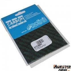 LAMELLE DE CLAPET POLINI CARBONE 0,35 FEUILLE 110X100 (x2) (213.0601)