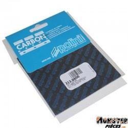 LAMELLE DE CLAPET POLINI CARBONE 0,30 FEUILLE 110X100 (x2) (213.0600)